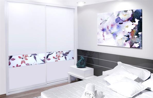ארון קיר מודפס לחדר שינה